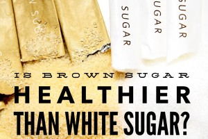 white sugar brown sugar